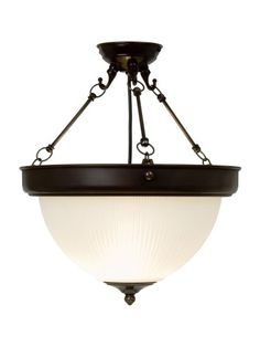 DOME6356 - Hanging Uplighter by Kansa Lighting. Drop can be increased by extension chain and ceiling plate kit.