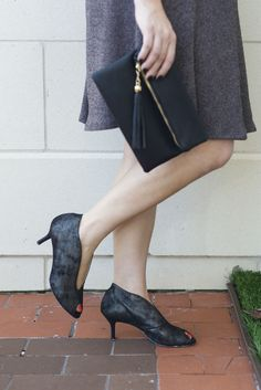 Date night heels, fall outfit idea