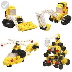 Click-A-Brick Toys Mighty Machines 100pc STEM Learning Building Blocks Set for Boys & Girls | Best Educational Gift | Engineering & Construction Fun for Kids Age 4yr 5yr 6yr 7yr & 8+ Years Old - Fun stuff and gift ideas (*Amazon Partner-Link)