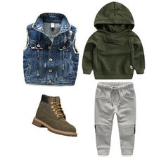 Spring Season is 🔥 🙌 +Distressed Denim Vest +BQE Joggers +BK x Yeezy the blue link in bio to shop⤴️… Toddler Boy Fashion, Little Boy Fashion, Toddler Boy Outfits, Fashion Kids, Toddler Boys, Baby Boys, Carters Baby, Hipster Toddler, Fashion Women