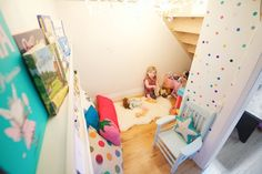 playroom under the stairs... Living With Kids: Jillian Murphy