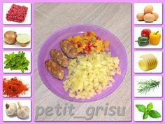 Čevabčici s bramborem a salátkem z restovaných paprik Okra, Fried Rice, Soup, Yummy Food, Chicken, Meat, Baking, Ethnic Recipes, Gumbo