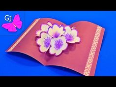 DIY 3D flower POP UP card - YouTube
