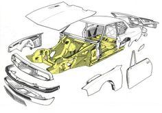 Citroën SM cutaway diagram