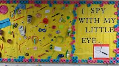 I spy bulletin board