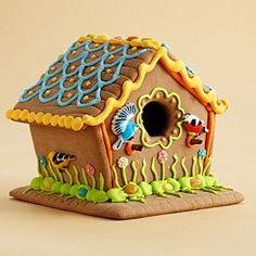 Summer Garden Gingerbread Bird House