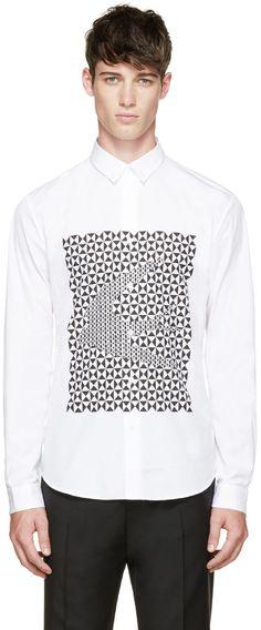 McQ Alexander McQueen White Swallow Print Shirt