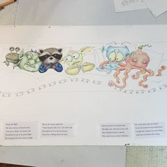 """From Mary's FB page - """"Working on a new book! So much fun!""""  copyright Mary Engelbreit Enterprises, Inc."""