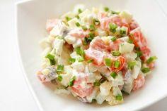 Салат с семгой и перепелиными яйцами рецепт с фото