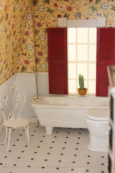 Who, What, Where, Dollhouse Bathroom - Everything you need to know about where I found everything and how I did it.
