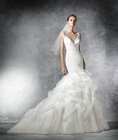 Precious, vestido de novia de tul con pedrería