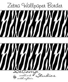 Rainbow Zebra Print Wallpaper Border Wall Decals For Teen Girls - Zebra print wall decals