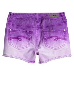 Dip Dye Colored Denim Shorts   Bottoms   New Arrivals   Shop Justice