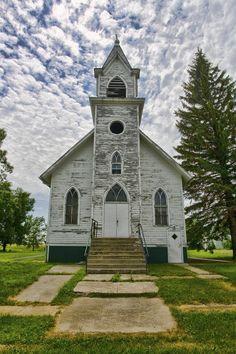 Abandoned church in North Dakota