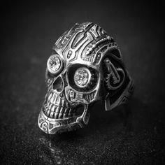 #robot #skull #ring #gyűrű #silver #egyediékszer #egyediajándék #masterpiece  www.ekszercenter.hu