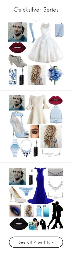 """""""Quicksilver Series"""" by trombone20 ❤ liked on Polyvore featuring MICHAEL Michael Kors, Casetify, MAC Cosmetics, Chicwish, Sophia Webster, Huda Beauty, Lacoste, New York & Company, BillyTheTree and Jessica Simpson"""