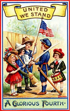 Today's post has a true vintage americana theme. I've decided to make a few etsy banners with an americana theme AND include a . 4th Of July Images, Patriotic Images, Patriotic Quotes, Happy Fourth Of July, July 4th, 30 July, Arte Do Galo, Happy Birthday America, 4th Of July Celebration