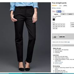 ❄️GAP blue true straight pants Will accept your offer of 20% off current price! A blue, stretch version of the cover pic on this listing. These blue pants not in stock at GAP anymore can add a little variety to a business casual wardrobe! These pants are a little loose on me, so they could use a new home. They are very comfortable/stretchy for dress pants though, and the straight leg goes well with heels or flats. GAP Pants Straight Leg