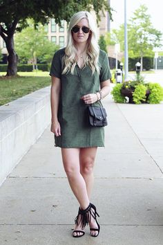 Green Suede Dress http://www.shopstyle.com/action/loadRetailerProductPage?id=486661607&pid=uid9169-25030263-1 #KatalinaGirl #blogger #suede #fringe #fallstyle
