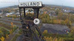 """""""Zeche Holland muß bleiben!"""" - Dem Förderturm, Wattenscheider Wahrzeichen, droht der Abriß, denn aus dem Industrie-Denkmal ist eine Industrie-Ruine geworden."""