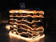 Great concept with the Pallets - not so in love with the rope lights... but cool concept.