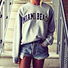 Tumblr Vintage Clothing for Women | Miami Beach, fashion, girl, hipster - image #771274 on Favim.com