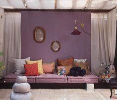 Minha Querida Reforma: Tons de roxo na decoração!