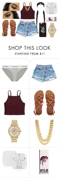 """""""Kylie Mode """" by foreverkaylah ❤ liked on Polyvore featuring Calvin Klein Underwear, Aéropostale, Billabong and Michael Kors"""