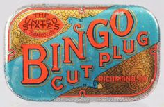Bingo Cut Plug Pocket Tobacco Tin RARE Pre-1900