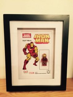 Inspired lego #marvel avengers iron man #figure in #display case frame art mego, View more on the LINK: http://www.zeppy.io/product/gb/2/322235958536/
