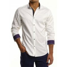Emporio Armani Men's Blue Dress Shirt A cool design complements ...