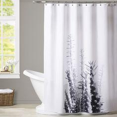 Found it at Wayfair - Melinda Wood Cactus Shower Curtain Cactus Shower Curtain, Shower Liner, Bed & Bath, Sweet Home, Curtains, Bathroom, Wood, Studio, Room Ideas