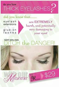 Don't lose another lash with glue, extensions, false eyelashes! Try our 3D fiber lash mascara and your eyes won't be in danger!