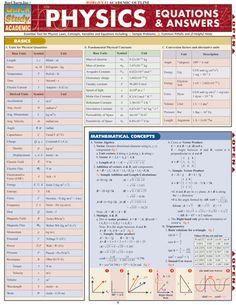 PHYSICS EQUATIONS & ANSWERS