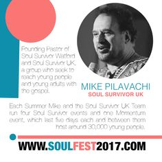 SOUL FEST 2017  Guest Speaker @mikepilavachi @soulsurvivoruk @sswatford Super Early Bird Price Ends 01 NOV 🎈 SIGN UP www.soulfest2017.com #SoulFest2017NextGen #OmySoul