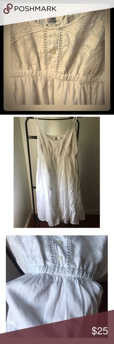 New white dress 100%cotton ! Lovely!! Size L - fits perfectly Dresses Midi