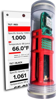 Tilt™ Floating Wireless Hydrometer and Thermometer for Brewing