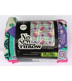 "48"" No Sew Throw - Bright Patchwork"