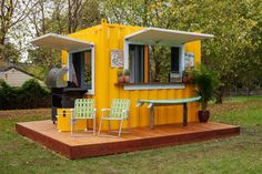 Home offices, extensions, holiday homes, man caves, sheds and bars are all options when modifying a shipping container. #containerhome #shippingcontainer