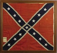 An Army of Northern Virginia's Confederate battle flag, captured at Macon Arsenal by the Indiana Mounted Infantry.