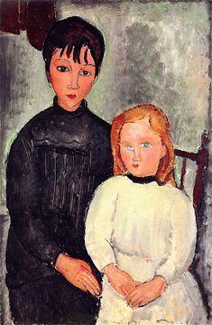 Two Girls - Amedeo Modigliani                                                                                                                                                                                 More