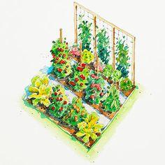 Planting Plans Inspired by the White House Kitchen Garden Vegetable Garden Planning, Veg Garden, Edible Garden, Veggie Gardens, Vegetable Gardening, Vegetables Garden, Garden Posts, Potager Garden, Veggies