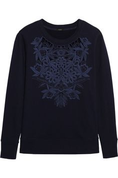 floral embroidered sweatshirt / j.crew