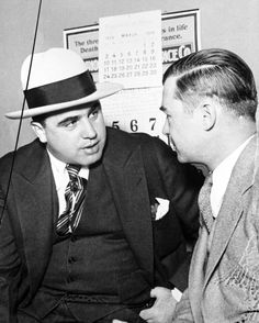 Al Capone and his attorney in 1929. Photograph by Jun Fujita.