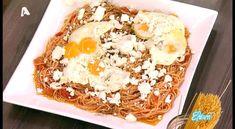 ΥΛΙΚΑ (για 4 άτομα):1 πακέτο σπαγγέτι3 ντομάτες3 σκελίδες σκόρδο1 φλ. ελαιόλαδο300 γρ.