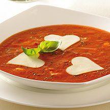 Soupe piquante aux tomates.