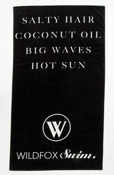 Wildfox 'Salty Hair' Swim Towel
