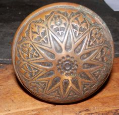 beautiful brass antique vintage eastlake style door knob with shaft by BandCEmporium, $29.00