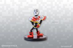 A skeleton figurine with very high standardsand zero points of articulation.This injection-molded plastic UNDERTALE figurine was modeled by Gijs van Kooten and stands 3.4 inches tall.Final product may differ from this 3D render.