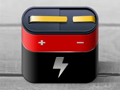 Dribbble - Battery iPhone Icon by Philipp Datz
